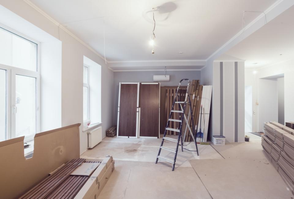 mieszkanie wtrakcie remontu